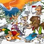 Animals in Winter — Stock Photo