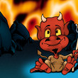 Stock Photo: Hell and Red Devil