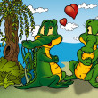 Two Crocodilie — Stock Photo