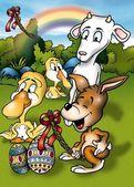 Easter Cartoon — Stock Photo