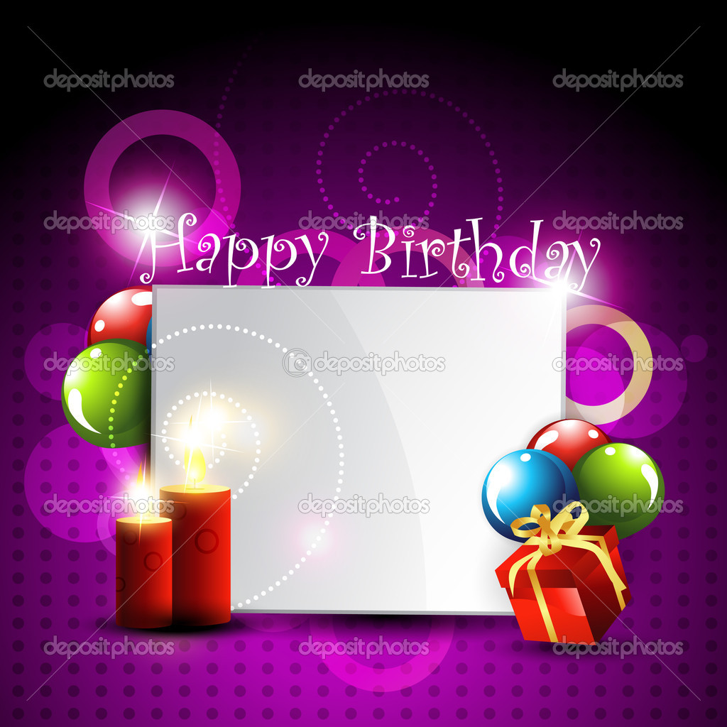 Stylish happy birthday design art  Stock Vector #5472762