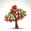 Heart tree — Vettoriali Stock