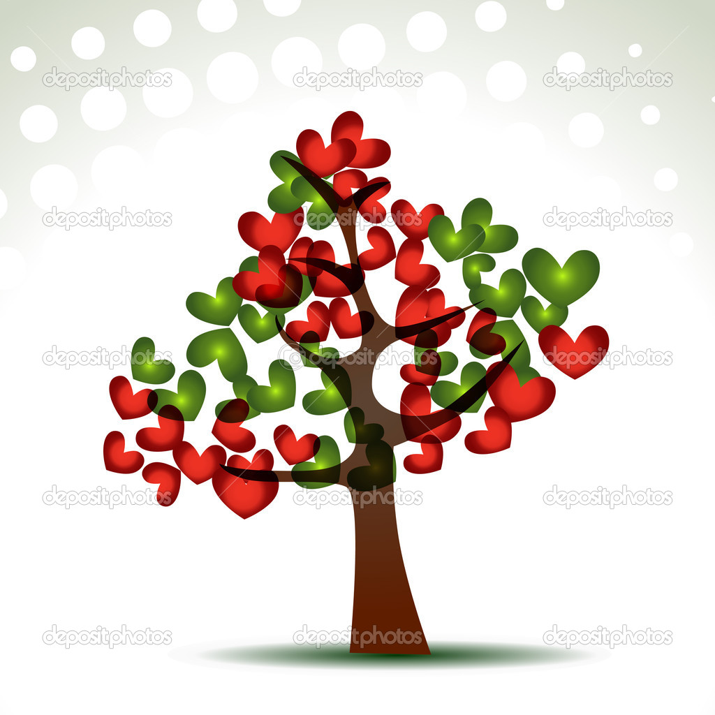 Vector stylish heart tree — Stock Vector #5674952