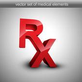 Rx vector — Stock Vector