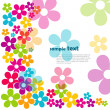hermosas flores — Vector de stock  #5805210