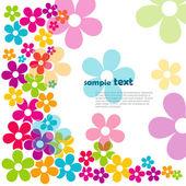 красивые цветы — Cтоковый вектор