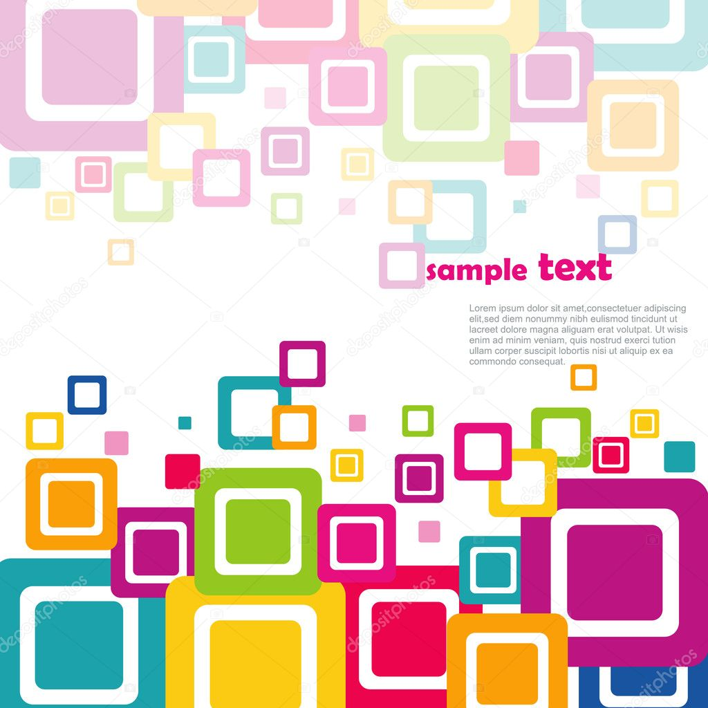 Colorful Squares Vector colorful squares on