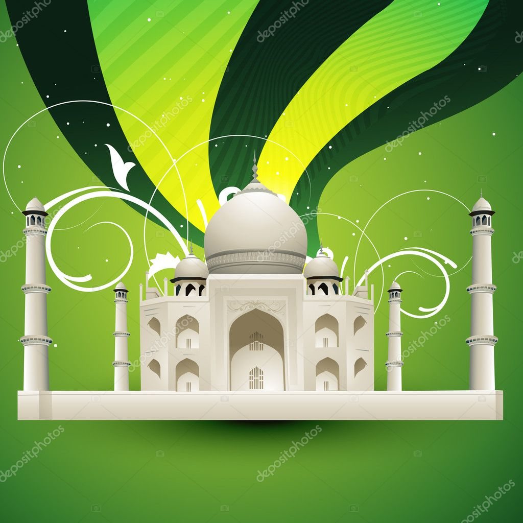 Beautiful taj mahal vector illustration — Stock Vector #6267540