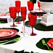 Royalty-Free Stock Photo: Dinner table setup - Italian Style