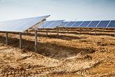 Planta de paneles solares — Foto de Stock