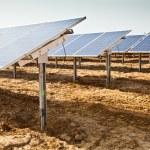 Solar panel plant — Stock Photo #5521225