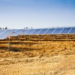 Solar panel plant — Stock Photo #5734505