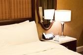 豪华酒店卧室 — 图库照片