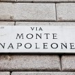Via Monte Napoleone — Stock Photo