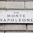 Via Monte Napoleone — Stock Photo #6169136