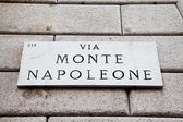 Via Monte Napoleone — Stock Photo