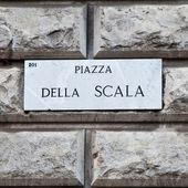 Piazza della Scala — Stock Photo