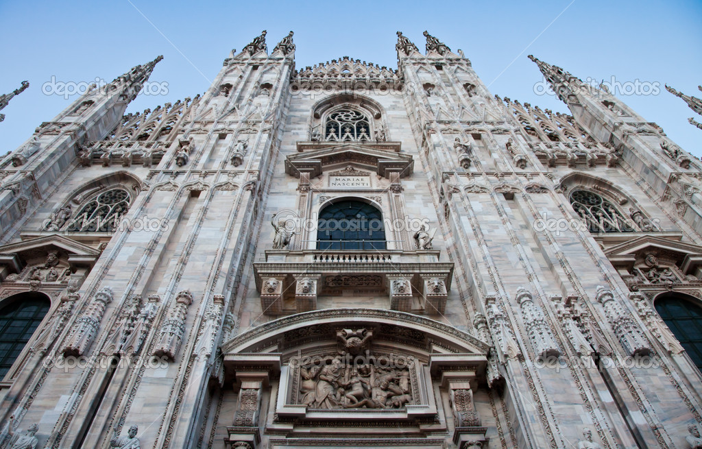 The Gothic cathedral took nearly six centuries to complete. It is the fourth largest cathedral in the world and by far the largest in Italy. — Stock Photo #6376522