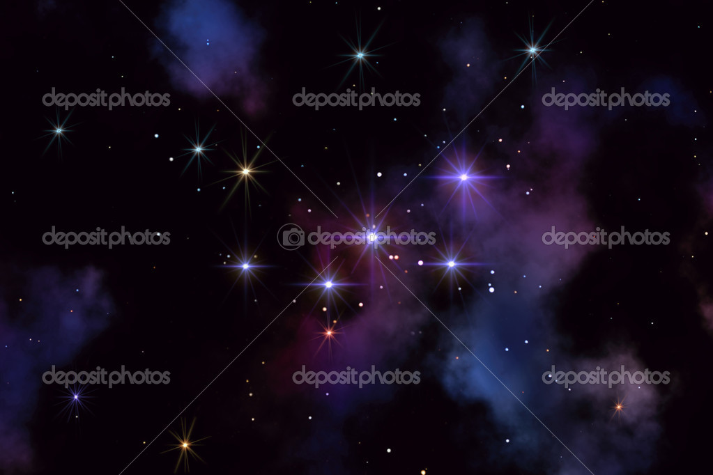 This image shows a constellation from Cassiopeia — Stock Photo #5965933