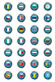 Buttons with European Union flags — Foto de Stock