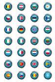 Przyciski z flagi unii europejskiej — Zdjęcie stockowe