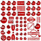 Shopping promotional elements — Stock Photo