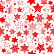 Stock Photo: Seamless pattern with stylized stars