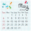 Calendar for May 2012 — Stock Photo