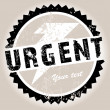 Stock Photo: Grunge stamp with Urgent