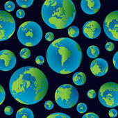 Background pattern with planet Earth — Stock Photo
