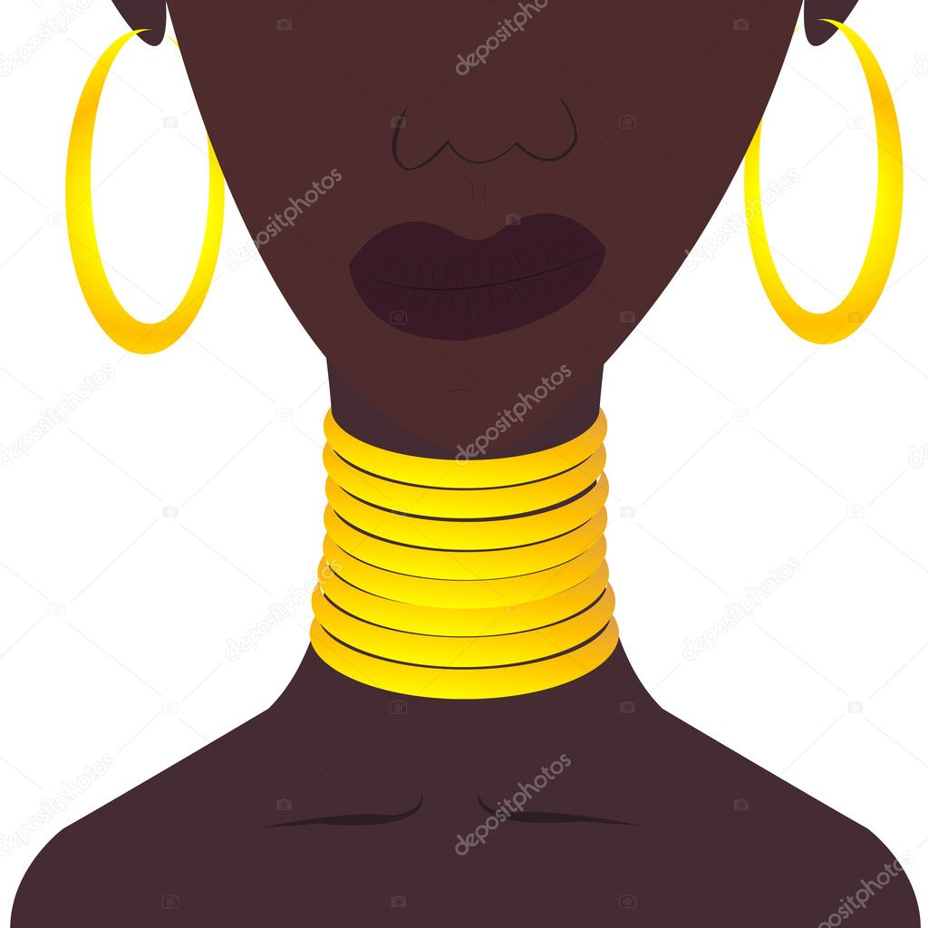Black woman with jewelies — Stock Photo #6021705