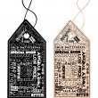 Two shopping tags - Stock Photo