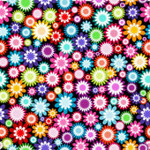 Seamless pattern with multicolored flowers — Stock Photo