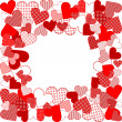 Love background with hearts — Foto de stock #6433569