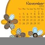 2012 November Calendar — Stock Photo #6433655