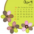 2012 April Calendar — Stock Photo #6433677