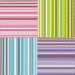 Stock Photo: colored set of patterns