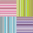 Foto de Stock  : Colored set of patterns