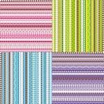 kolorowy zestaw wzorców — Zdjęcie stockowe