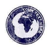 Stempel z ziemi glob — Zdjęcie stockowe