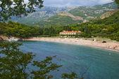 Beach Miloèer in Montenegro — 图库照片