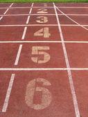 Starting Lane Of Racetrack — Stock Photo