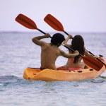 Couple in their kayak — Stock Photo #5427504