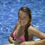 Teenage girl in pink bikini — Stock Photo #6160306