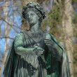 Statue of the muse of poetry — Stock Photo