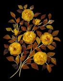 Bouquet of roses made of amber — Stock Photo