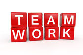 Team Work cubes — Stock Photo