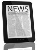 Tablet PC Computer and News — Stock Photo