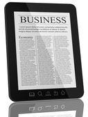 Notícias de negócios no computador do tablet pc — Foto Stock