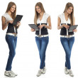 Beautiful Woman With Tablet Computer — Stock Photo